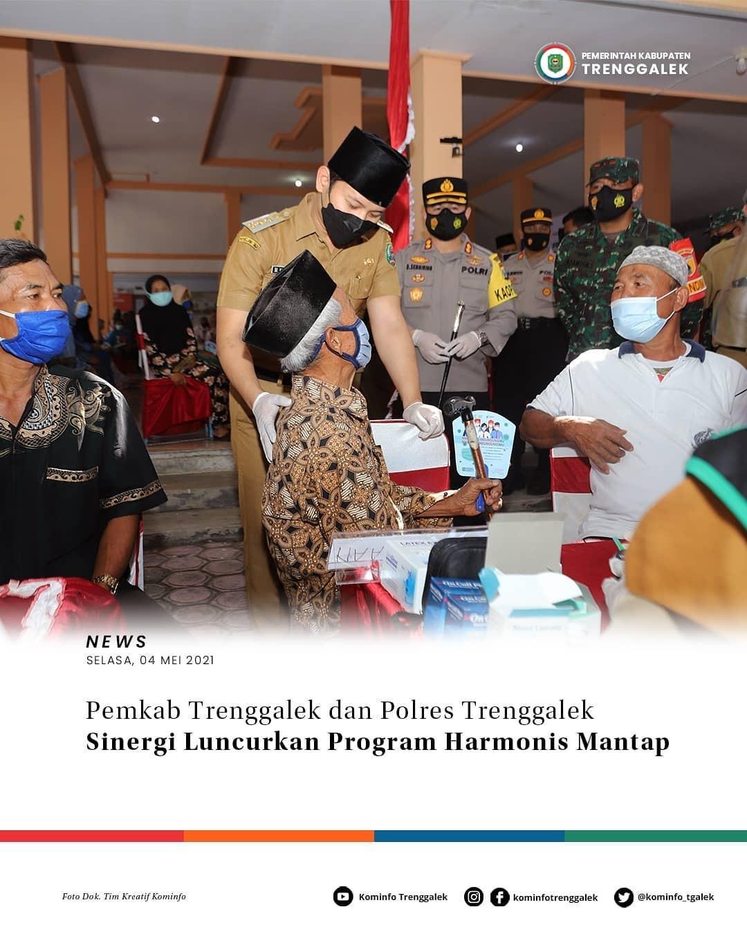 Pemkab Trenggalek dan Polres Trenggalek Sinergi Luncurkan Program Harmonis Mantap